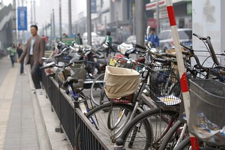 Bicycle is everywhere in Beijing