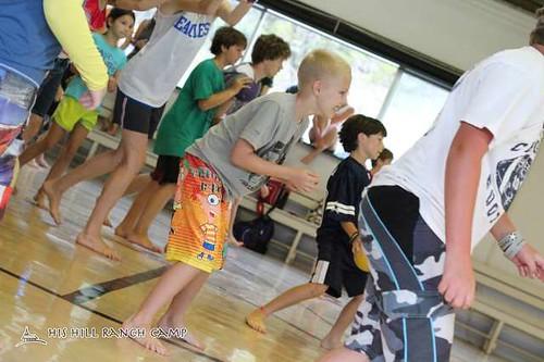 Travis dodgeball at camp