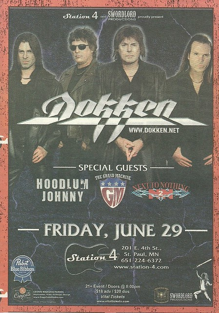 06-29-12 Dokken/Hoodlum Johnny/The Grand Machine/Next To Nothing @ Station 4, St. Paul, MN