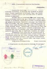V/6.b. A salgótarjáni izraelita hitközség szabad mozgást kér tanácsának vezetősége számára. Salgótarján, 1944. május12. 6_88a