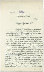 VI/3. Dr. Bajor Sándor zsidó orvos, hivatkozva édesapja 1919-ben Szamuelyék által történt kivégeztetéséért járó mentességére, kérelmezi nyolc hónapos terhes felesége mentesítését a gettóba vonulás alól.  mnljnszml6_2a