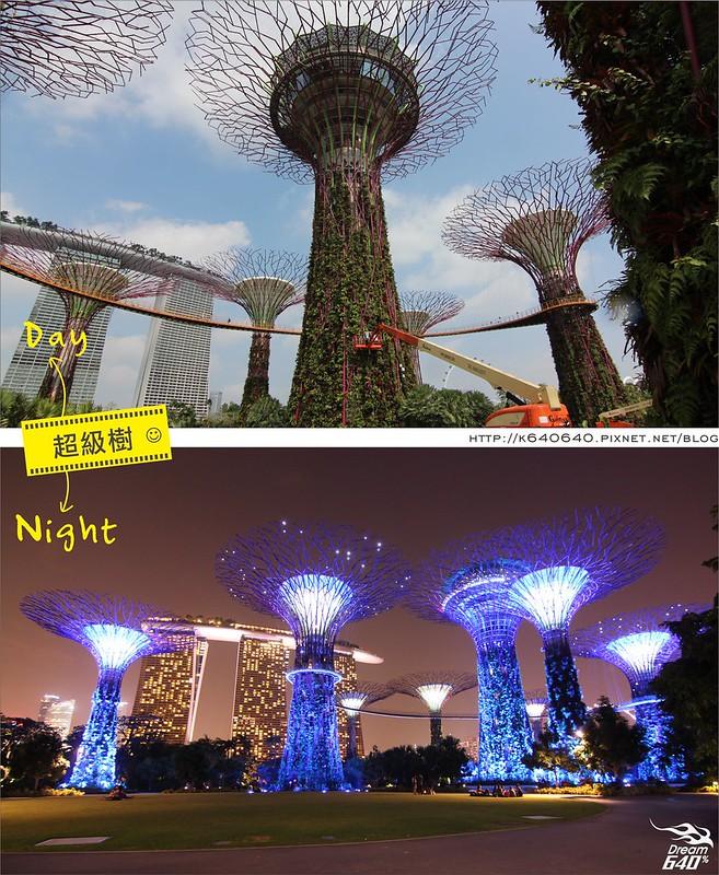 新加坡日夜對照-超級樹