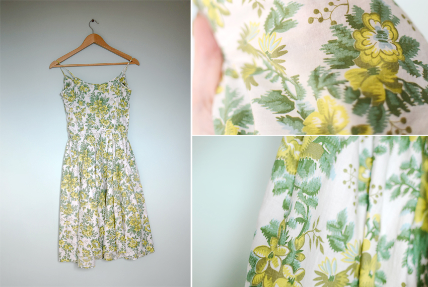 green-floral-sundress-1950s b
