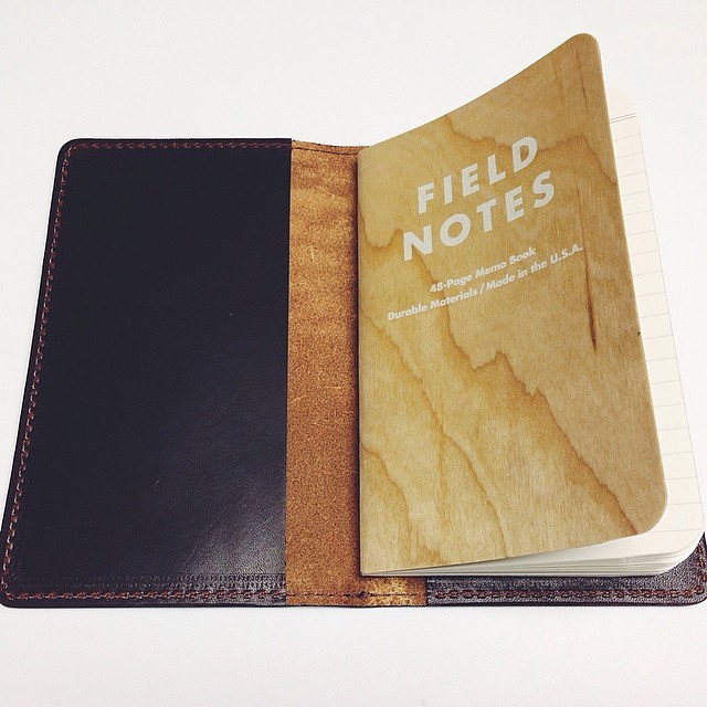 Mitchell Leather Field Notes journal cover. #fieldnotes #leather #madeinusa #usamade #notebooks #stationery