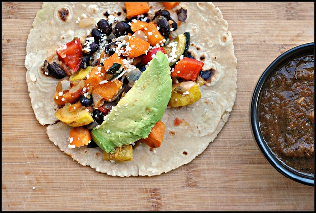 Roasted Vegetable and Black Bean Tacos 3