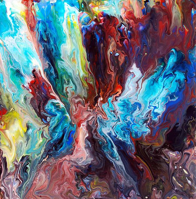 Acrylic Fluid Painting Materials