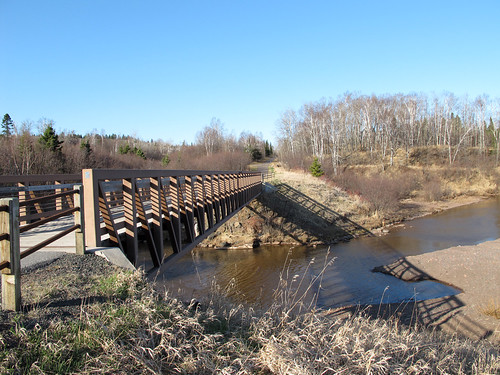 Gitchi Gami Trail on Old 61 at the Split Rock River