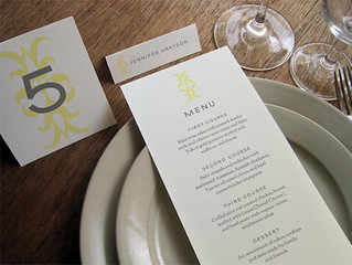 Printable Wedding Menu - Ornament
