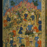 Poem (masnavi), Double-page illustrated frontispiece, Walters Manuscript W.656, fol. 2a