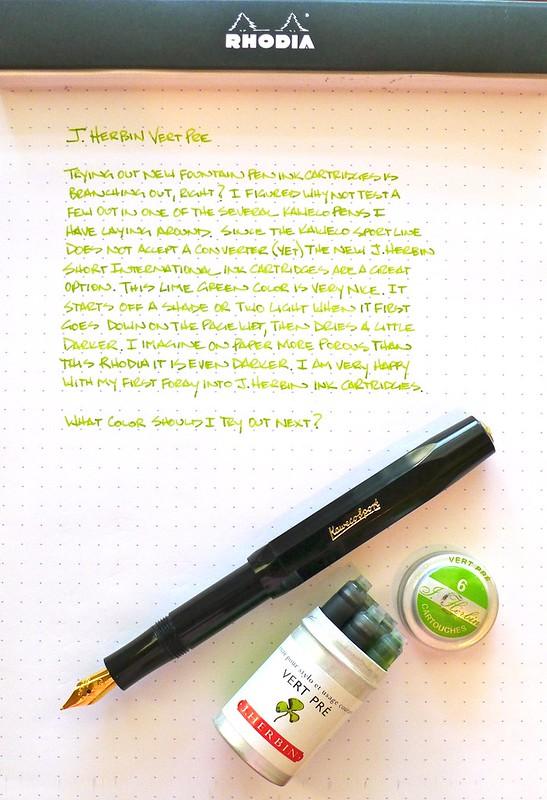 J. Herbin Vert Pre Ink Cartridges
