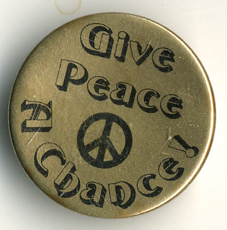 give peace a chance pin