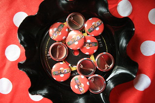 Badges in a bowl
