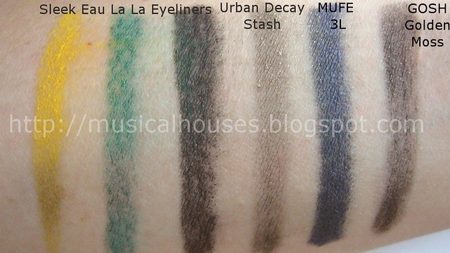 Sleek Eau La La Eyeliner Comparisons
