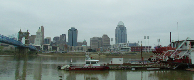 cincy city and boat