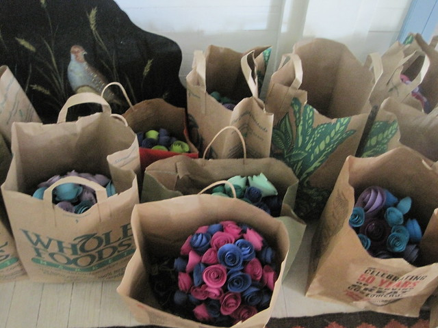 Circle flower vases ready to go!