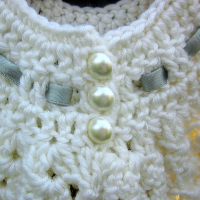 Angel Wings Pinafore Button Detail