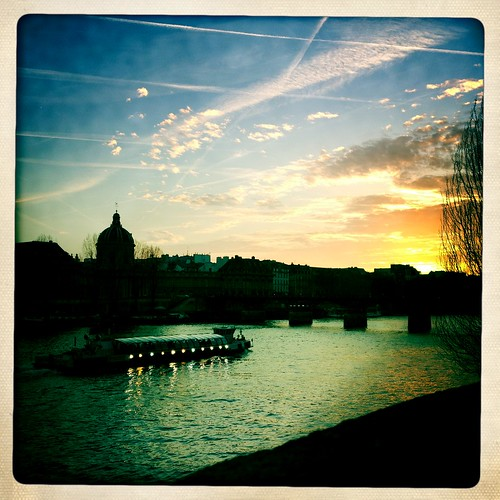 The Seine at sunset