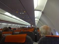 Easyjet inside plane