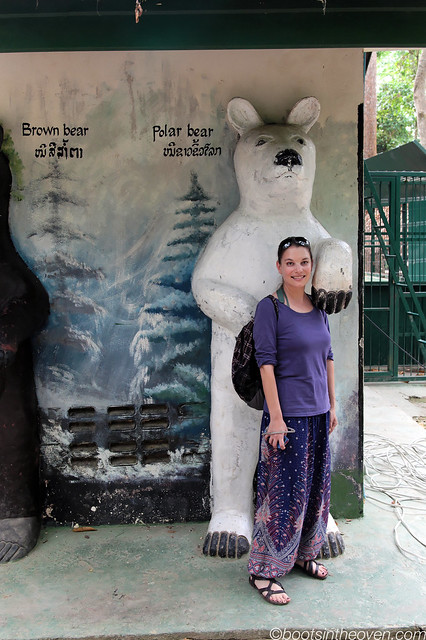 Me and my new friend, the polar bear.  He big.
