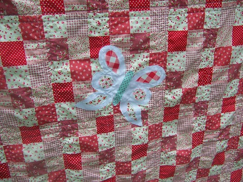 Lakehouse Quilt: Butterfly closeup