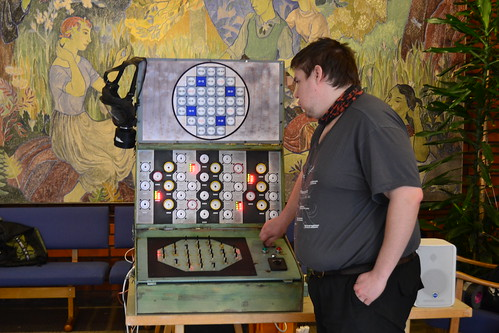 One of the control panels from Helsinki Hacklabs' Chernobyl Simulator (Image CC-BY Hannu Makarainen)