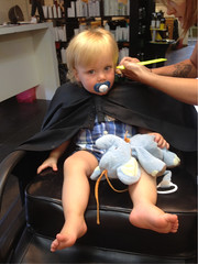 143- first haircut, he did so well!!