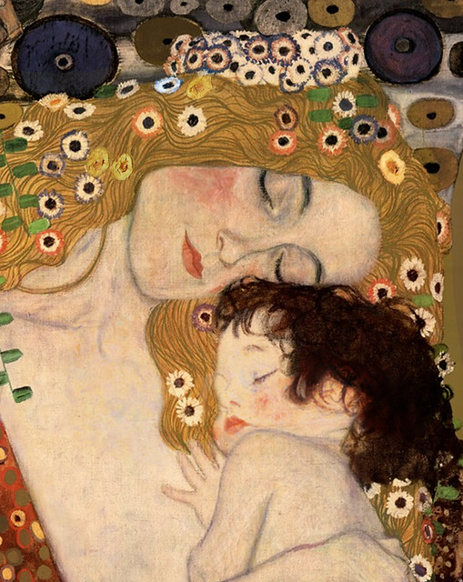 """Gustav Klimt """"The Three Ages of Woman"""" (detail modified ..."""