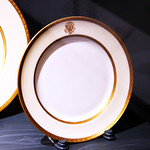 Wilson White House dessert plate - Smithsonian Museum of Natural History - 2012-05-15