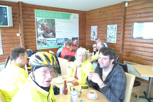 Tea in the visitors centre