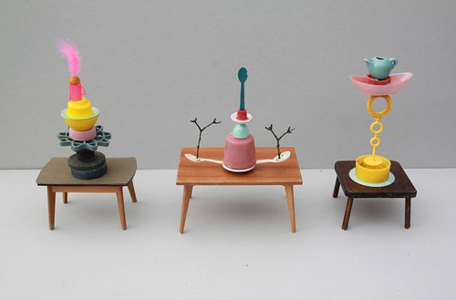 tiny table-sculptures