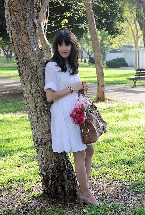 אפונה בלוג אופנה, בלוג אופנה ישראלי, שמלה לבנה