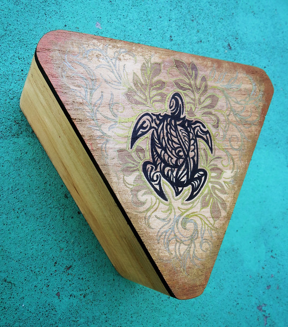 Tribal Turtle Wooden Box Art Photo by Sherrie Thai of ShaireProductions.com