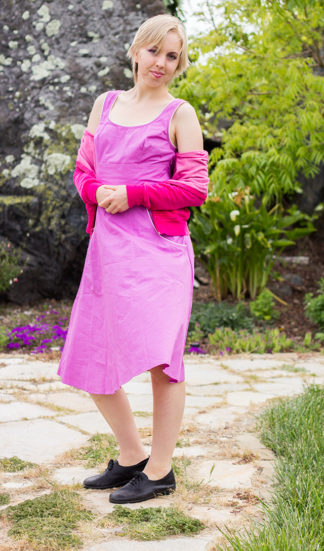 pink lavender // pastel fuchsia dress from eshakti.com
