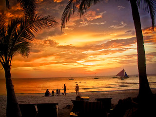 Pacific Island Sunset, Boracay, Philippines