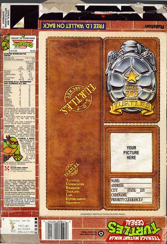 "Ralston ::""TEENAGE MUTANT NINJA TURTLES"" CEREAL  -  ""FREE I.D.WALLET"" ii (( 1991 )) by tOkKa"