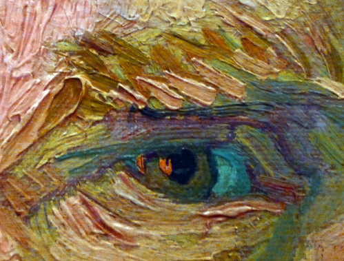 Van Gogh, Self-Portrait Dedicated to Paul Gauguin detail of eye by profzucker