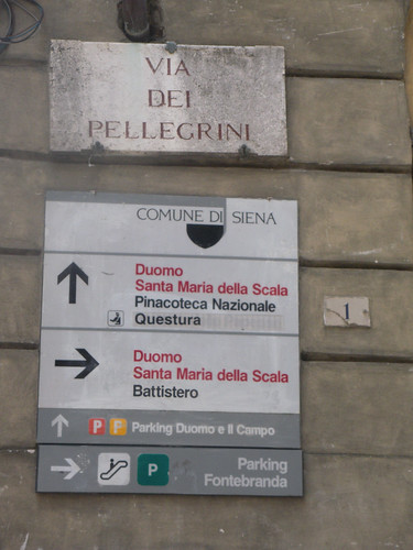 Signs in Siena