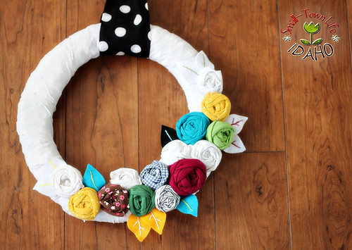 Fabric Rosette Wreath