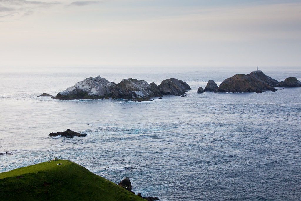 Camping overlooking Muckle Flugga
