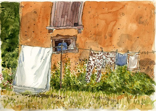 Washing Line with Pyjamas, Brittany