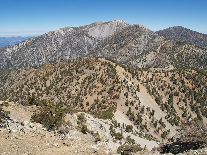 Baldy and Thunder Mountain from Telegraph Peak
