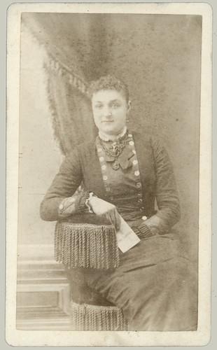 CDV Woman and Fringe Chair