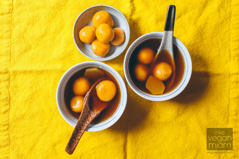 Sweet Potato Dumplings in Ginger & Jasmine Syrup (Tang Yuan)
