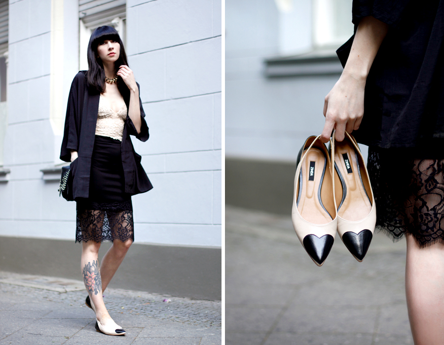Zinda heart ballet flats spain shoes Lancaster Betty bag black and white summer outfit OOTD look Ricarda Schernus Berlin Blogger 5