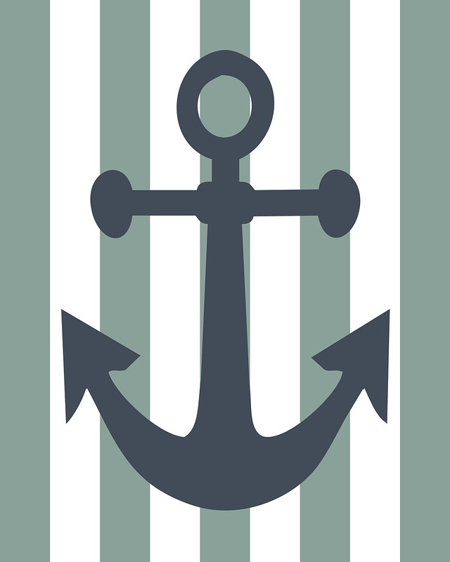 anchor, nursery, wall art, nursery art