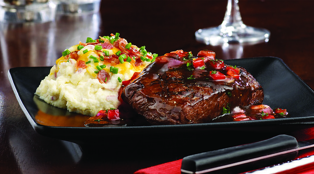 New York Strip with Roasted Red Pepper Sauce