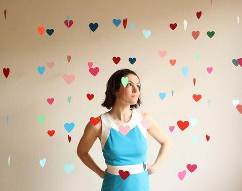 decoracion corazones colgantes 0
