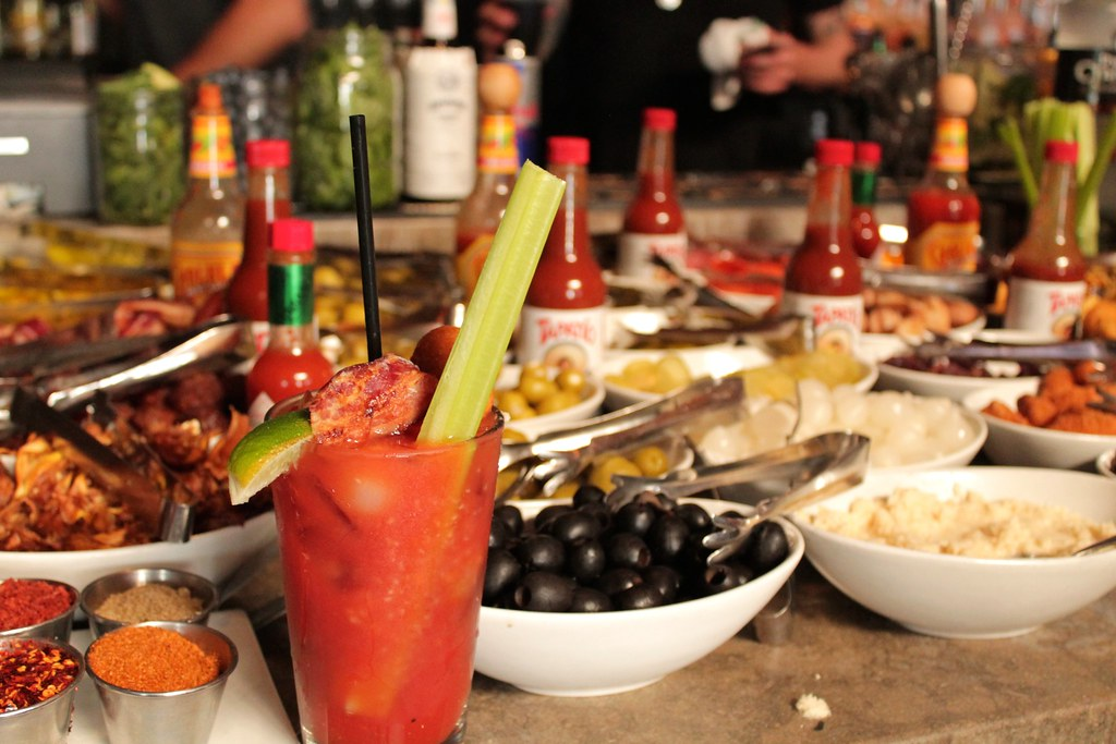 Bloody Mary Bar at Brick + Mortar by Etxe