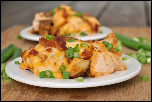 Loaded Baked Potato and Buffalo Chicken Casserole 4