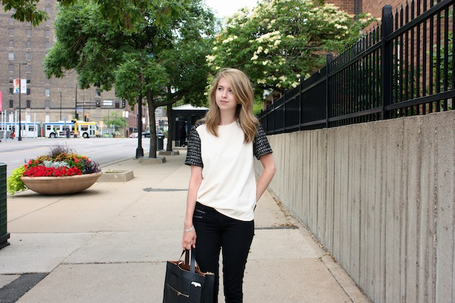 chelsea+lane+zipped+blog+minneapolis+fashion+style+blogger+jcrew+tweed+tee+justfab+signature+skinny+zipper+leona+sandals+kate+spade+saturday+inside+out+tote4